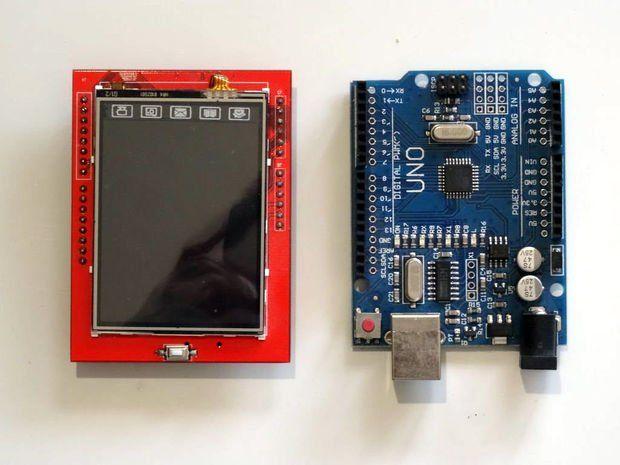 Arduino Uno: Bitmap Animation on ILI9341 TFT Touchscreen
