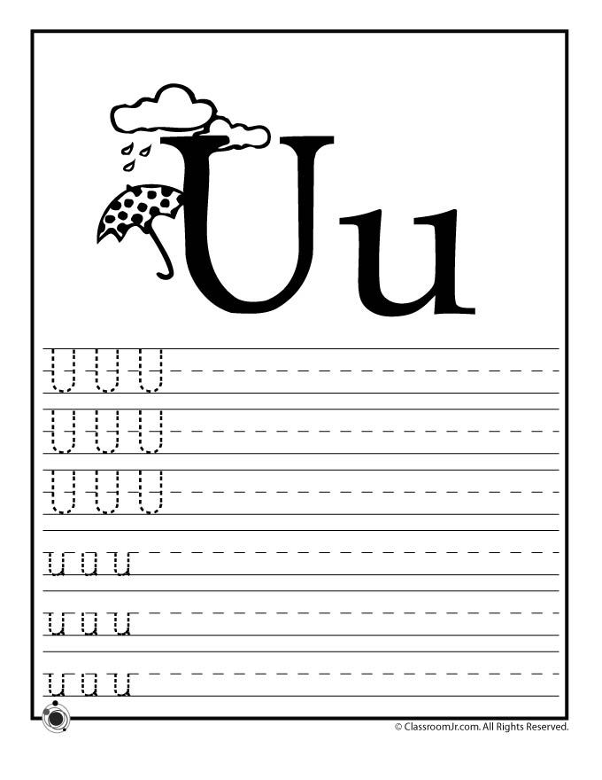 learning abcs worksheets learn letter u classroom jr