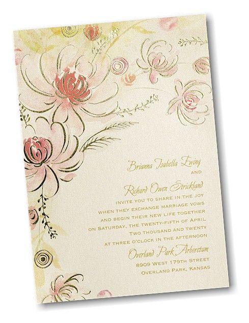 Warm Floral Wedding Invitation