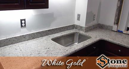 White Gold Granite Countertops Fabricated And Installed By Stone