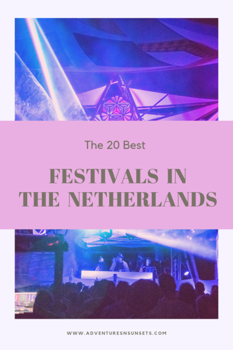 Check out the top 20 music festivals in the Netherlands not to miss during festival season! From every genre, length, venue, and experience, this list of Dutch music festivals has you covered... especially if you like EDM, house, and techno because The Netherlands are the center of electronic music! #musicfestival #festival #festivalseason #netherlands #festivalseason #techno #housemusic #edm