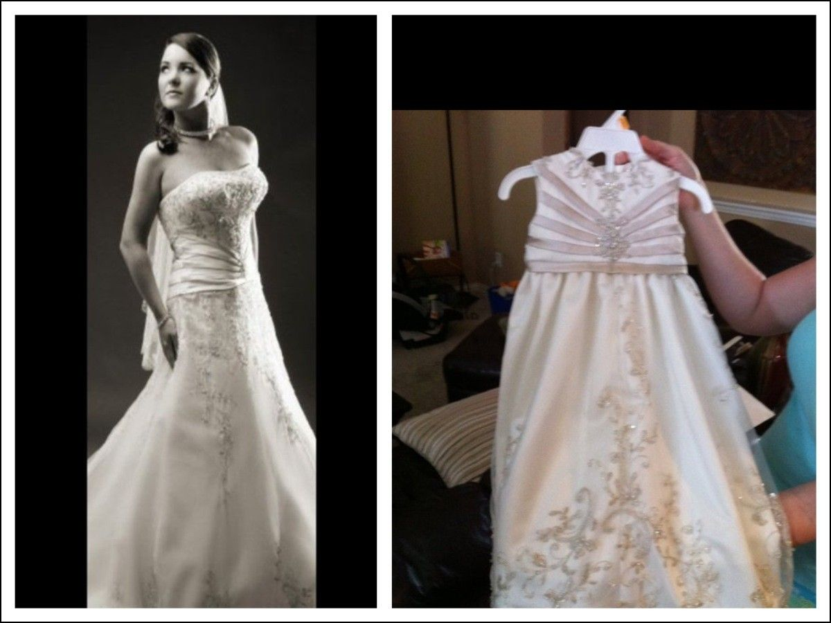 Wedding dresses turned into christening gown dresses and gowns