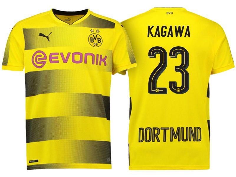 Borussia Dortmund  23 Shinji Kagawa 17-18 Home Short Shirt ... eee1cbe36
