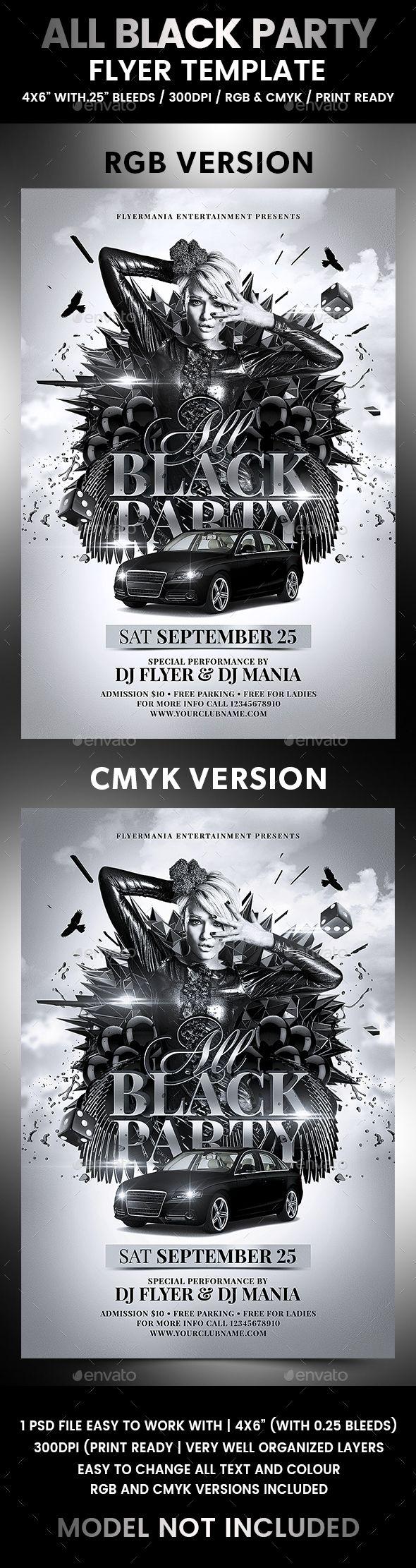 all black party flyer template flyer templates pinterest flyer