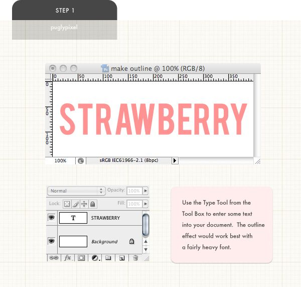 Outline a Solid font