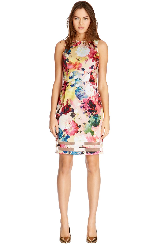 Multi Rose Printed Shift Dress Shift Dress Printed Shift Dress Print Dress [ 1500 x 1000 Pixel ]