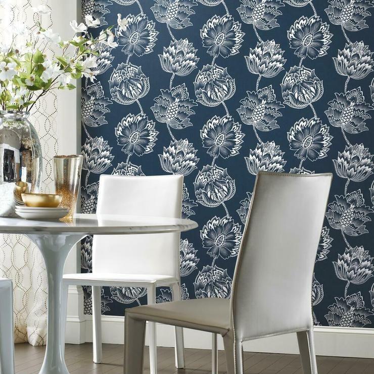 Batik Jacobean Peel And Stick Wallpaper In 2020 Peel And Stick Wallpaper Decorating Solutions Room Visualizer