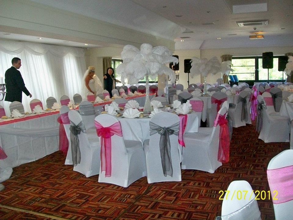 Ostrich Feather Wedding Centerpieces Loch Lomond Glasgow Www