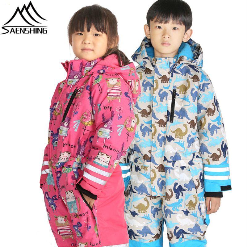 2549f40e5278 Saenshing Boys Girls Ski Suit Kids New Winter Ski Jacket Pants ...