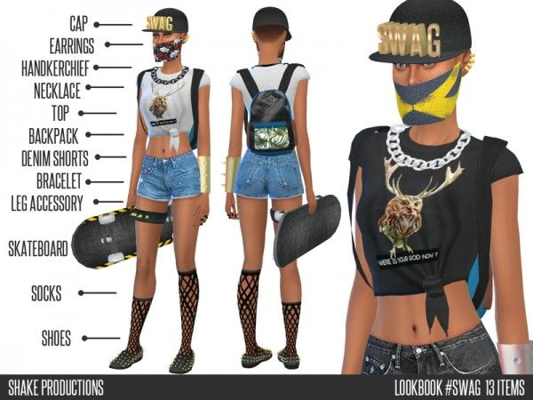 The Sims Resource: Lookbook 2 swag - 13 Items - Shake