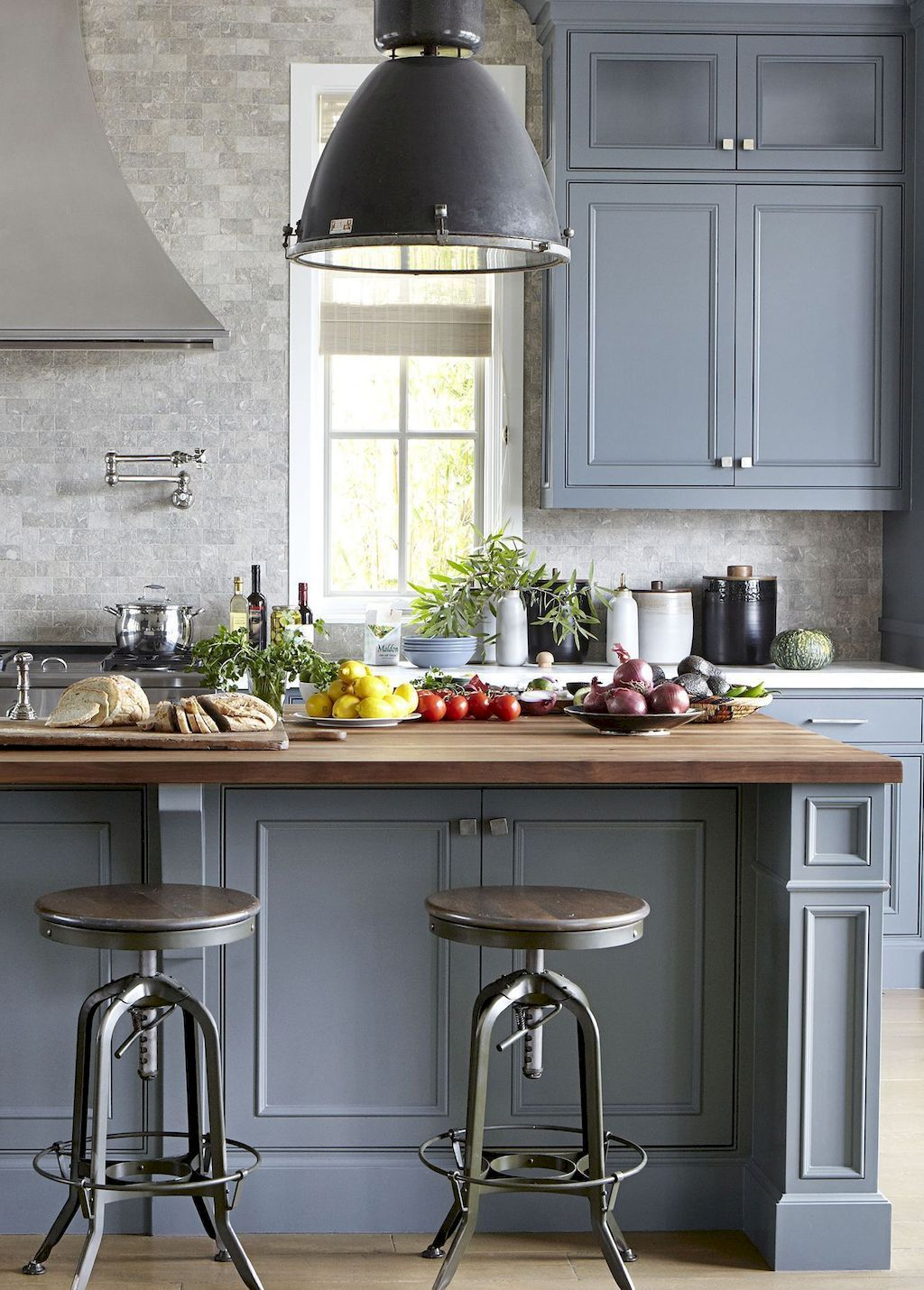 65 Gray Kitchen Cabinet Makeover Design Ideas Grey Kitchen Designs Blue Gray Kitchen Cabinets Painted Kitchen Cabinets Colors