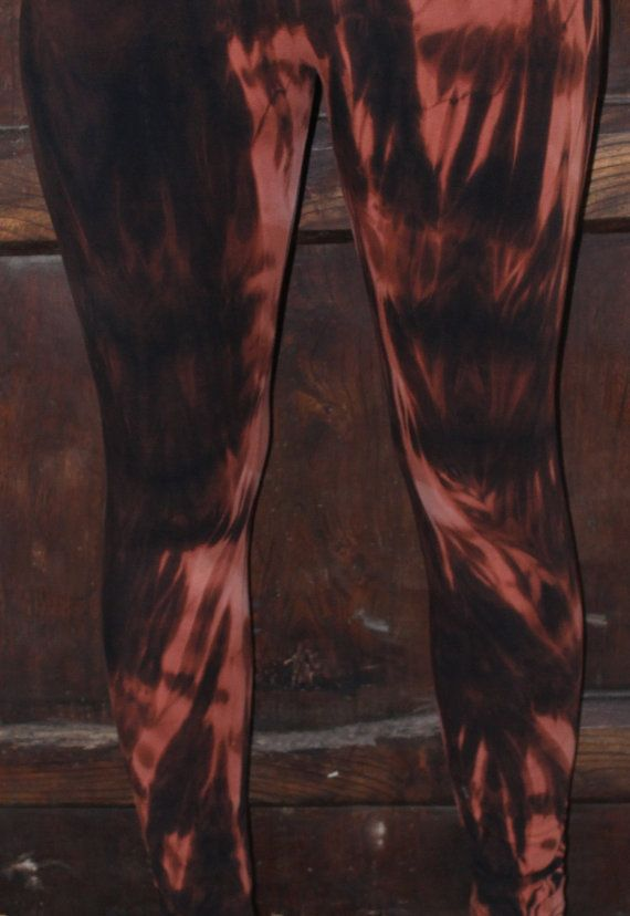 Acid Wash Leggings on Etsy, $13.66
