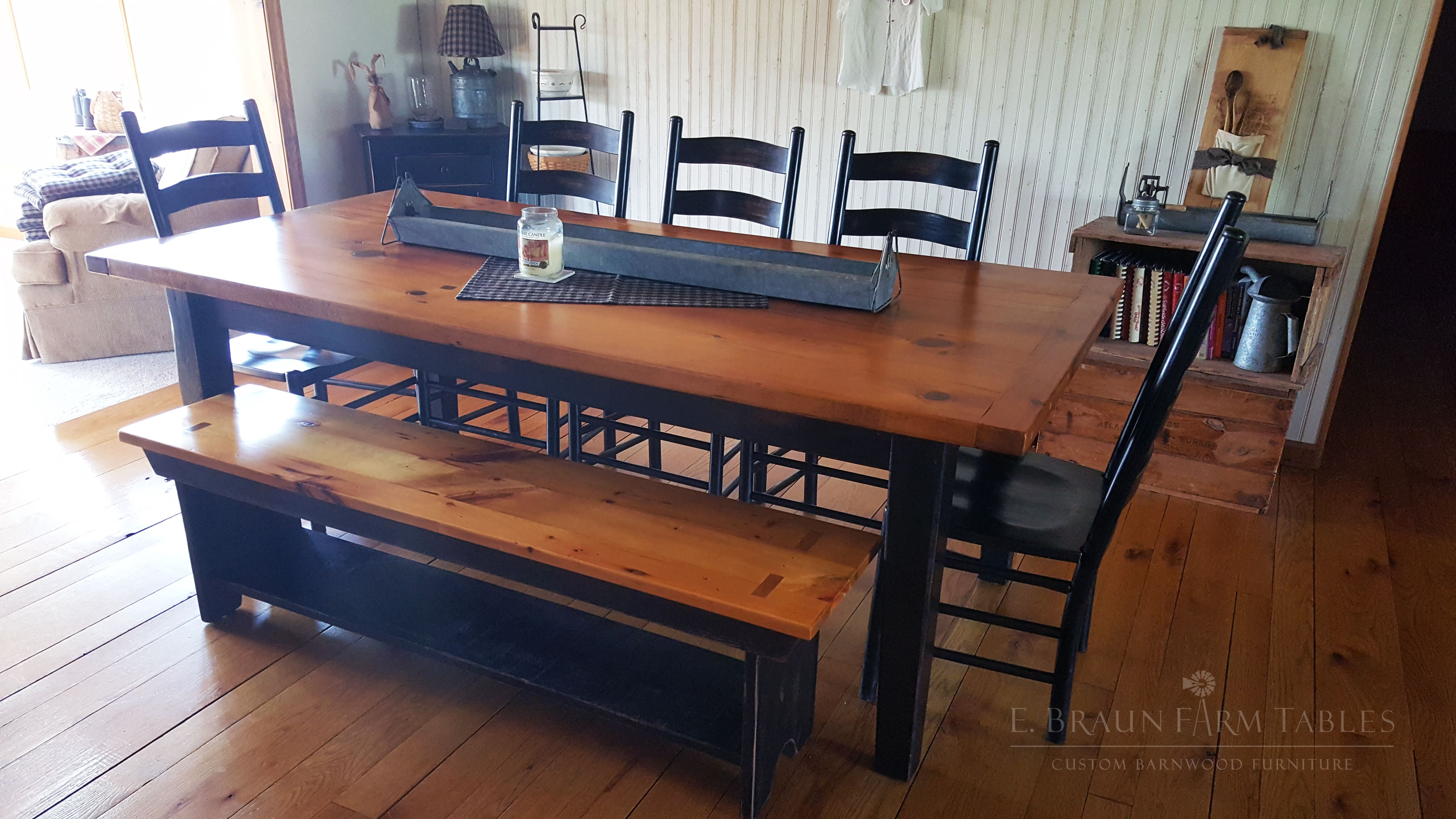 perfect farm table for this lovely farmhouse made using reclaimed