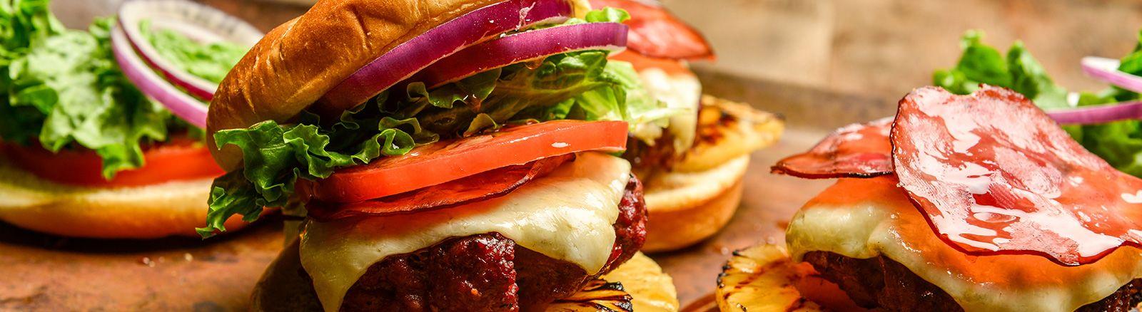 Hawaiian Teriyaki Burgers Teriyaki Burgers Hawaiian Teriyaki Burger Recipe Traeger Pellet Grills Traeger