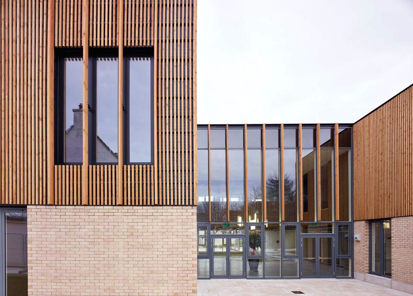 Wood Cladding On Brick Wall : Thistle foundation centre of health wellbeing
