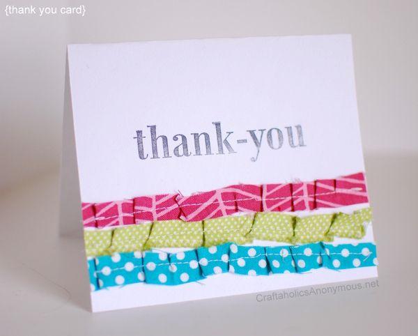 cute, simple thank you card