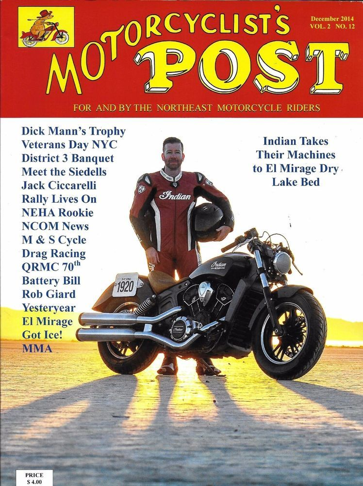 Motorcyclists Post Magazine Indian Motorcycle Veterans Day Drag