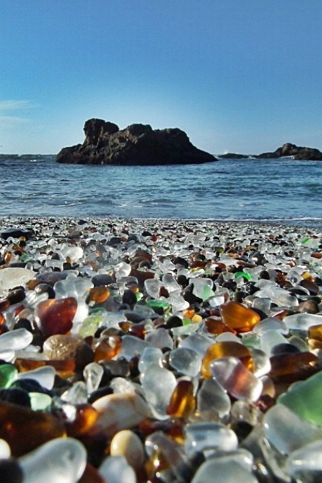 Amazing Beaches That Are Mainly Composed Of Sea Glass Are Found