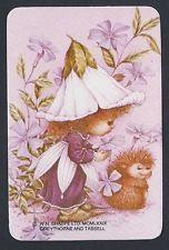 #800.1170 blank back swap card -MINT- 1979, Sugar Plum Fairy with hedgehog