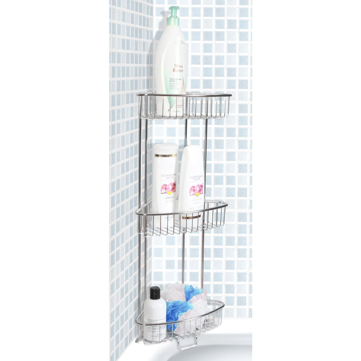 ToiletTree Products Shower Floor Caddy Is Made Of Stainless Steel And Comes  With A Rust Free