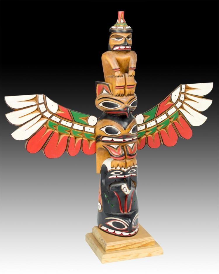 John Williams Northwest Coast Carved Totem Pole