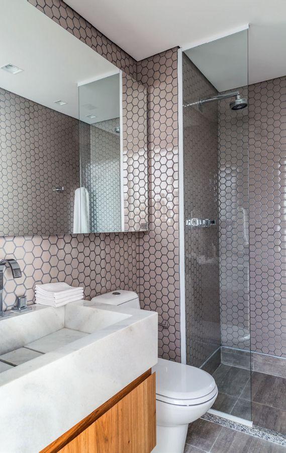 Como decorar um banheiro pequeno ladrillos para ba os - Azulejos para aseos pequenos ...