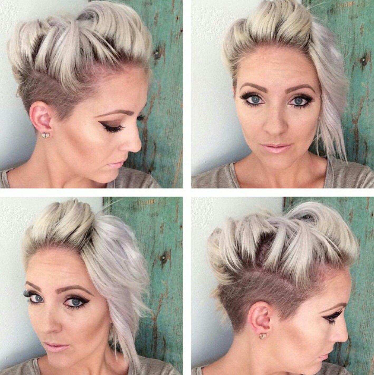 shaved side asymmetrical pixie | hair! in 2019 | short hair