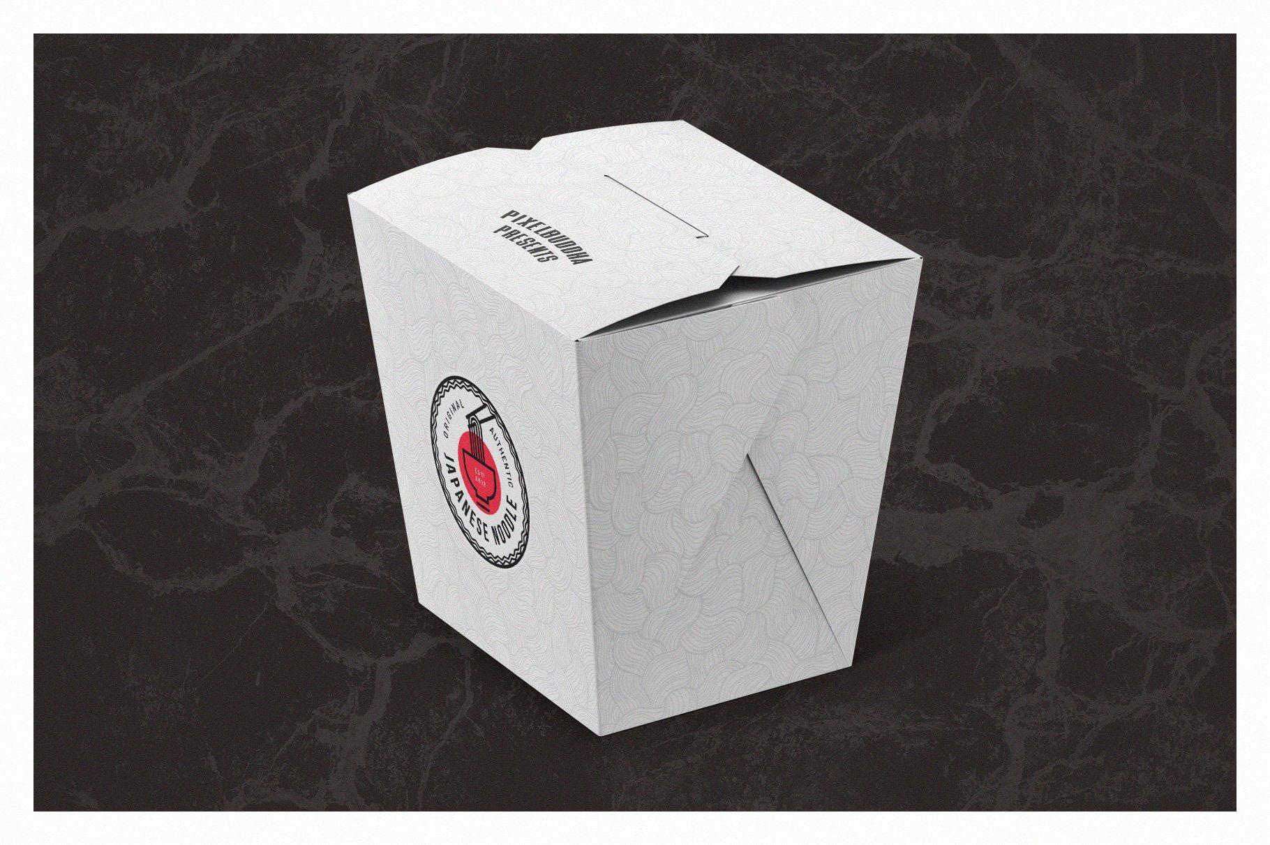 Download Noodles Box Mockup Set Box Mockup Branding Design Coffee Shop Design PSD Mockup Templates