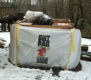 BullBags are easy to use, easy to set up, easy to fill, can be used on snow banks, snow piles, inside garages, and are MUCH cheaper than metal dumpsters and look so much better! Not to mentions are reusable and guaranteed for life!
