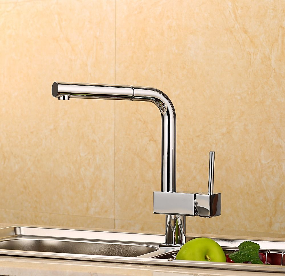 Reviews Hot Sale Fashion Creative Pull Out Kitchen Faucet Brass