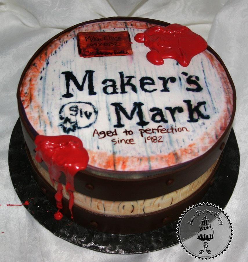 Maker S Mark Bourbon Whiskey Barrel Birthday Cake 428461