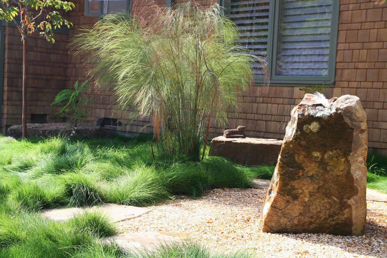 A No-Mow Lawn in Portola Valley — GardenArt Group ... on No Mow Backyard Ideas id=71041