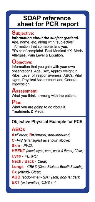 Ems Pocket Pcrs And Stickers Emt Study Emergency