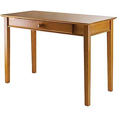 Winsome Studio Beech Wood Computer Desk, Honey | Wood ...