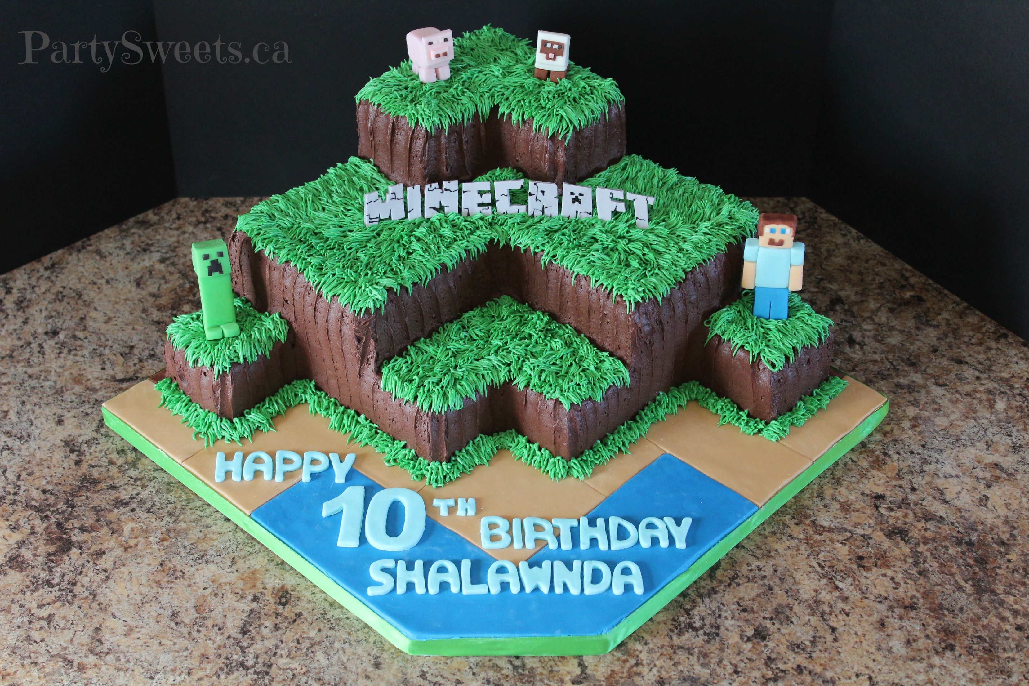 Buttercream Minecraft Party Sweets Cake Decorating Tap