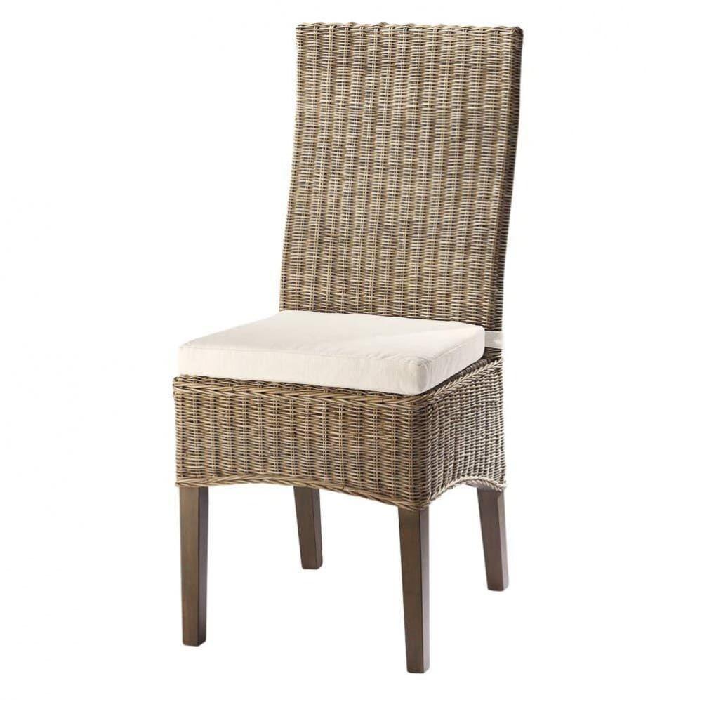 Rattan And Solid Mahogany Chair Hampton Maisons Du Monde Chaise Rotin Mobilier De Salon Chaise