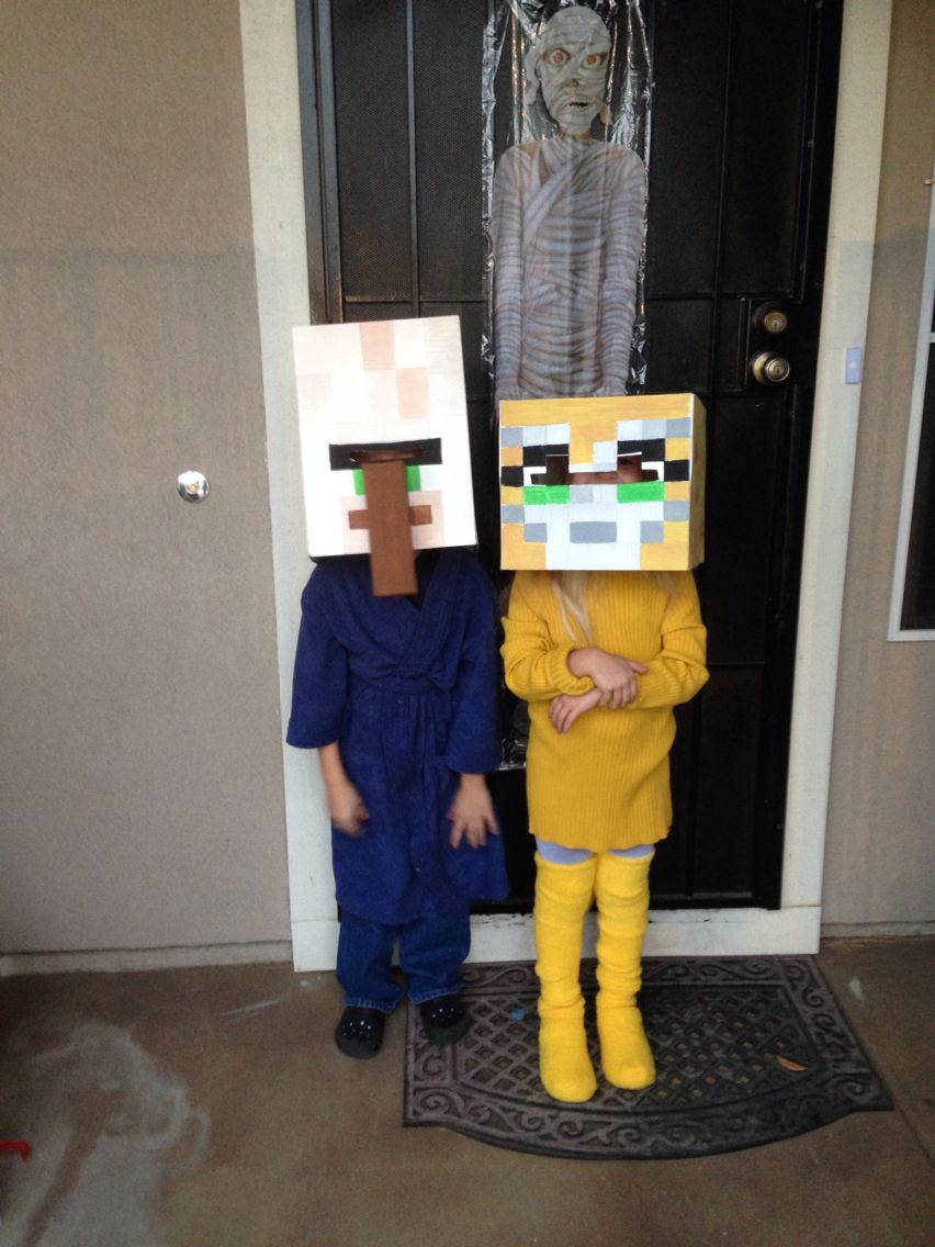 I made this Minecraft Stampy Cat Costume for my son and he loved ...