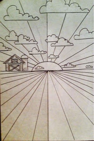 Sunrays And Cornrows Art Lessons Elementary Perspective Art Elementary Art Projects