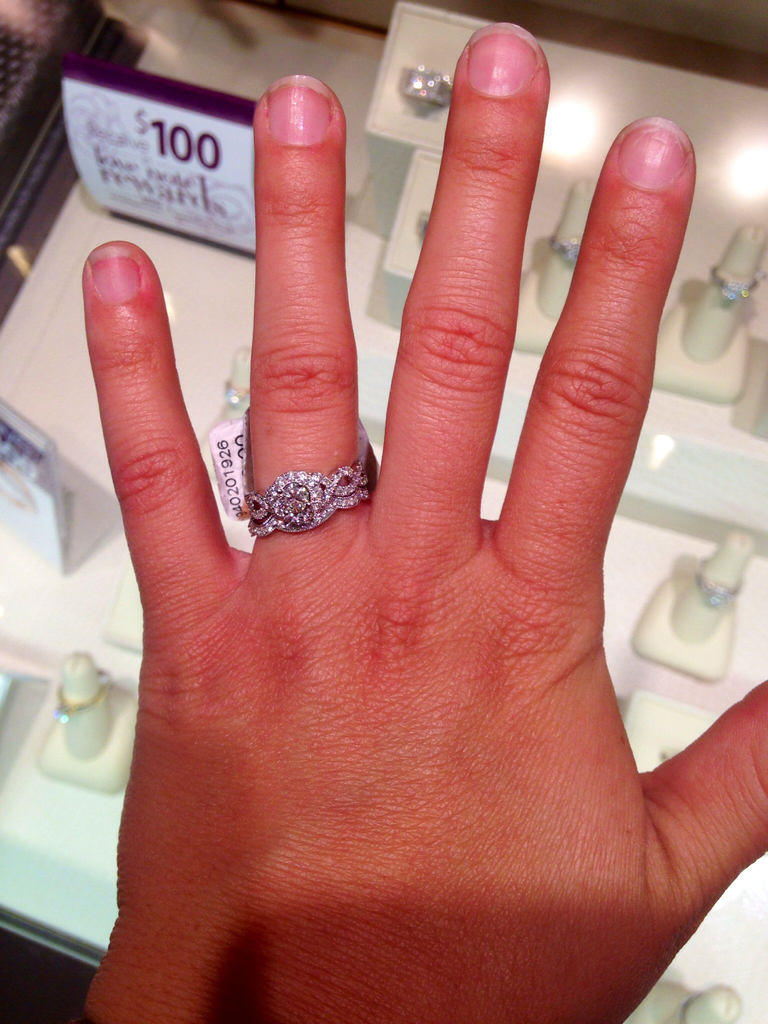 Im in love with this ring and it fits perfectly! Can\'t wait to wear ...