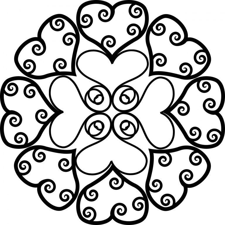 Muttertag Mandala Herz Ornament Ausmalen Ausmalen