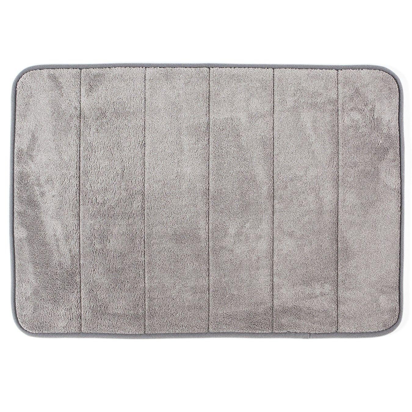 Philip Memory Foam Bathmat 43x61cm Grey Bath Mat Memory Foam