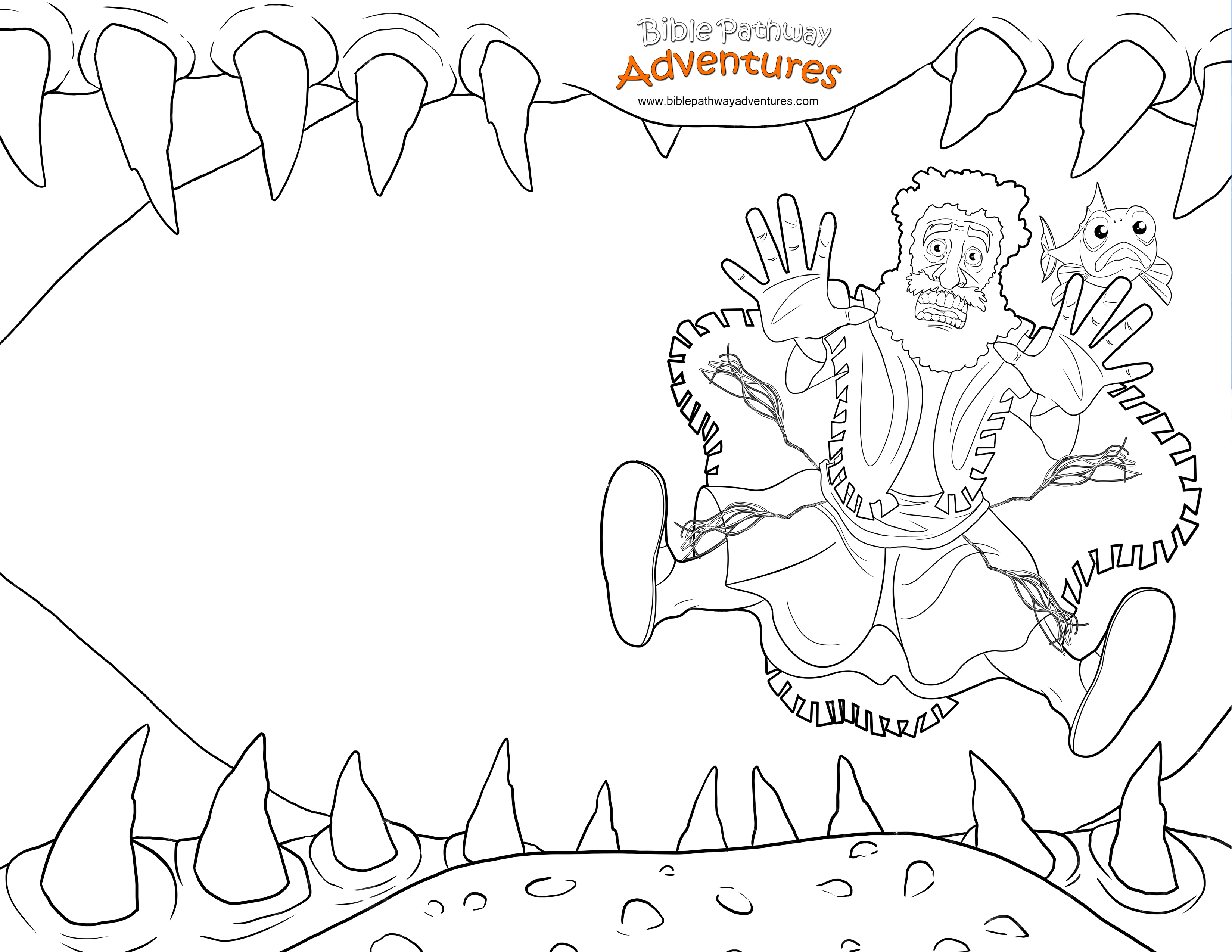 Free Bible Coloring Page Swallowed By A Fish