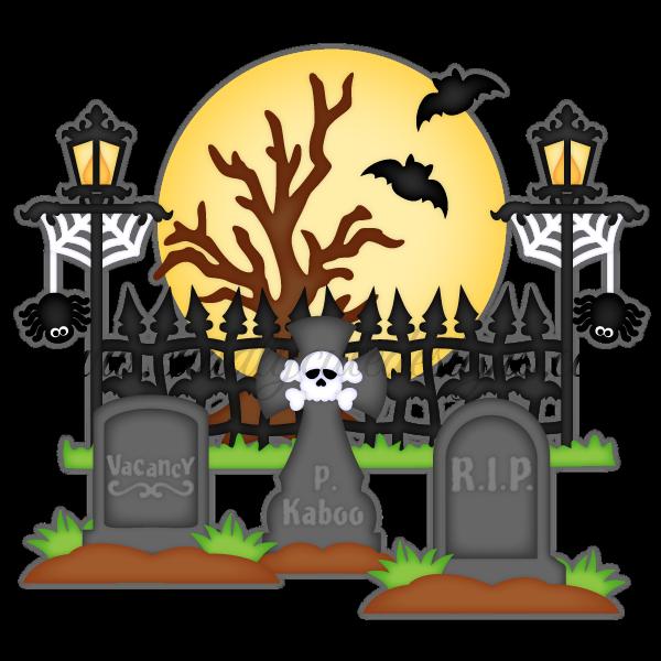 Spooky Graveyard | Halloween drawings, Halloween layout ...