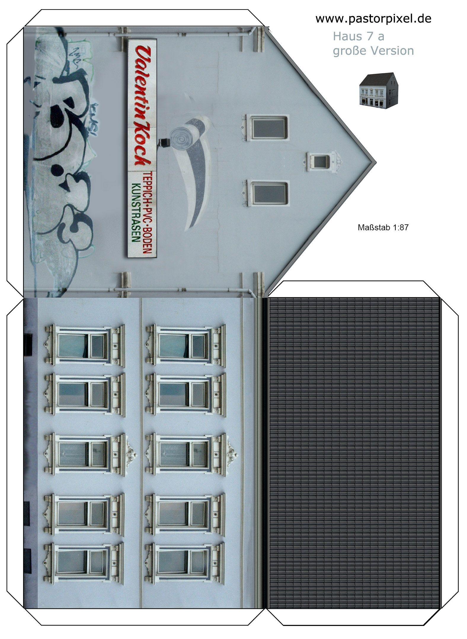 Ausschneidebogen Haus | Modellbau haus, Haus aus pappe und ...