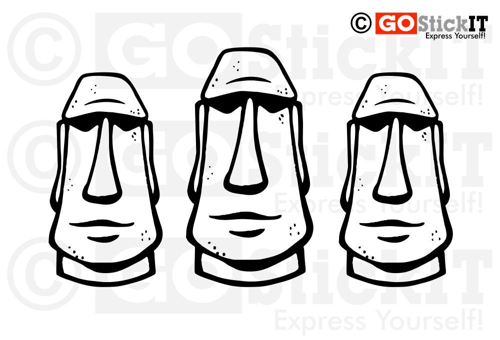 Hello Kitty Head Coloring Pages : Moai coloring pages home living areas easter island moai
