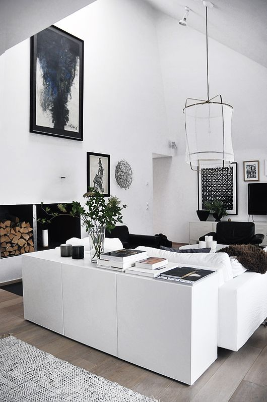 Ikea Besta Möbel Küche und Wohnzimmer Einrichtung Ideen - wohnzimmer mit kuche ideen