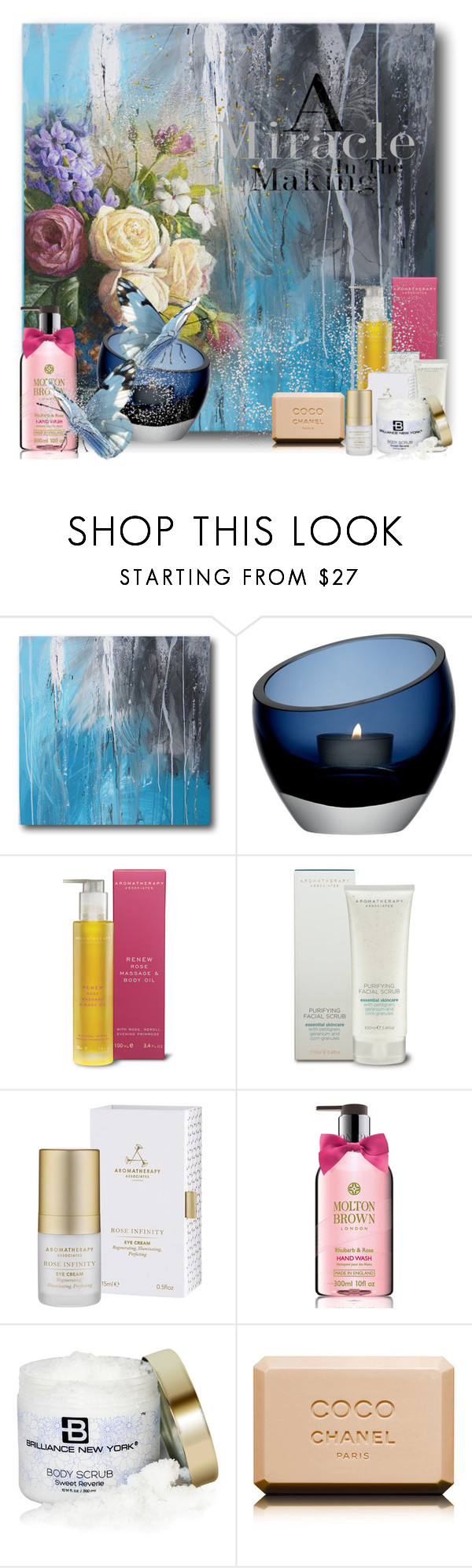 """""""Skin Care!!"""" by eco-art ❤ liked on Polyvore featuring beauty, LSA International, Aromatherapy Associates, Molton Brown, Brilliance New York and Chanel"""
