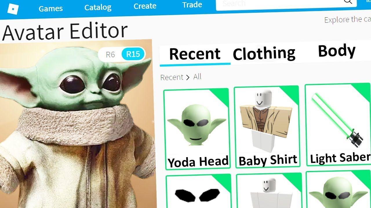 Making Baby Yoda A Roblox Account In 2020 Roblox Yoda Baby