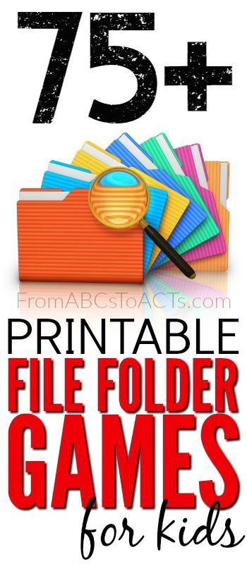 75+ Free Printable File Folder Games for Kids | pre-k lesson plans ...