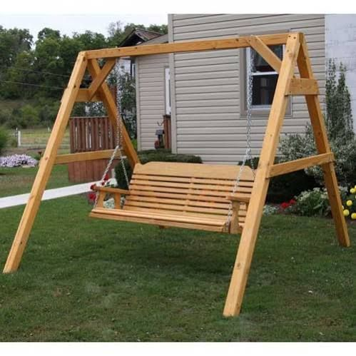 Building wooden swing frame pinteres for Building a wooden swing
